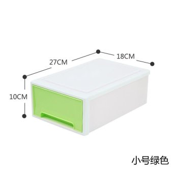Stackable Drawer Type Transparent Plastic Storage CabinetChildren's Clothing Storage Box Toy Lockers Finishing Cabinet ShoesCabinet - 2