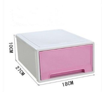 Stackable Drawer Type Transparent Plastic Storage CabinetChildren's Clothing Storage Box Toy Lockers Finishing Cabinet ShoesCabinet - 3