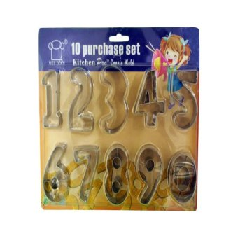 Stainless Cookie Cutter Numbers (Clear)