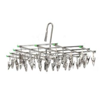 Stainless Steel 35 Clips Folding Underwear Hanging Bra Sock LaundryHanger Drying Clothes Rack Dryer - intl - 2