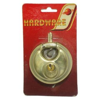 Stainless Steel 70mm Circular Disc Padlock Lock Security (Gold) Price Philippines