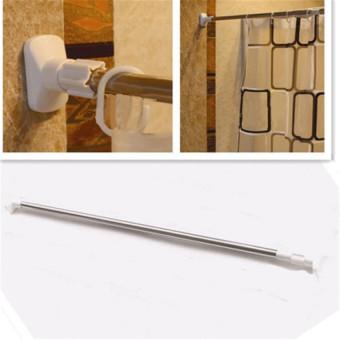 Stainless Steel Adjustable Tension Door Bathroom Shower CurtainPole Rod - 4