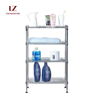 Stainless steel color kitchen storage rack kitchen shelf
