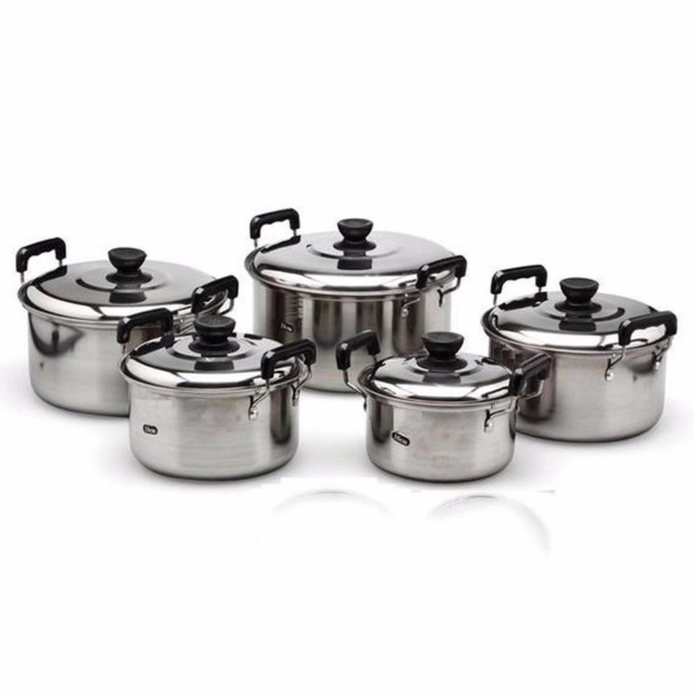 Stainless Steel Cookware Stockpot sets 5pcs (sliver)