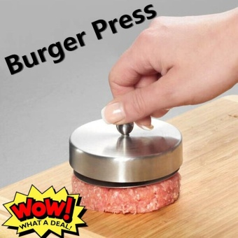 Stainless Steel Hamburger Patties Mold Maker Hand Operated Burger Press Cooking Tools(Silver) - intl