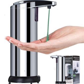 Stainless Steel Hands Free Automatic IR Sensor Touchless SoapLiquid Dispenser - intl