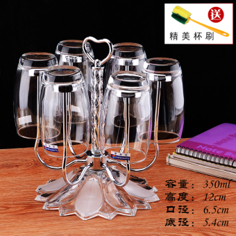 Stainless steel head spinning glass rack cup holder