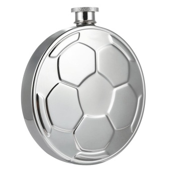 Stainless Steel Hip Flask Wine Pot Barware with Creative FootballAppearance - intl