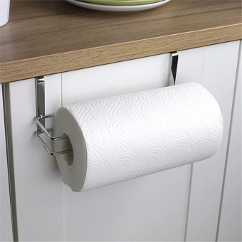 Stainless Steel Kitchen Tissue Holder Hanging Paper Towel HolderTissue Hanger Organizer Bathroom Toilet Roll Towel Rack Cabinet -intl