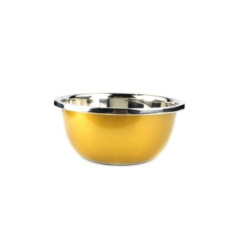 Stainless Steel Multi Colored Mixing Bowl Set of 3 Pcs - 3