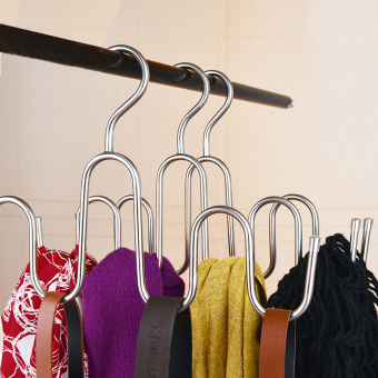 Stainless steel multi-functional scarf hanger