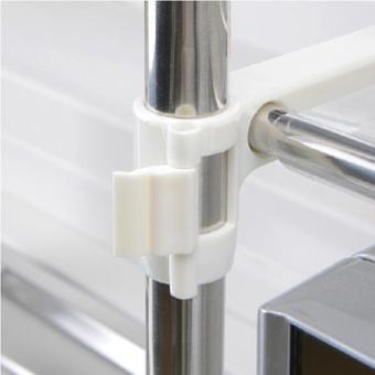 Stainless Steel Multifunctional Microwave Oven Shelf Rack StandingType Double Kitchen Storage Holders - intl - 5