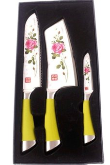 Stainless Steel Non Stick Ceramic Knife Set of 3
