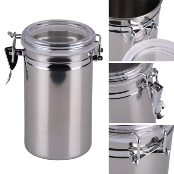 Stainless Steel Sealed Canister Jar Home Kitchen(L) (Intl) - picture 2