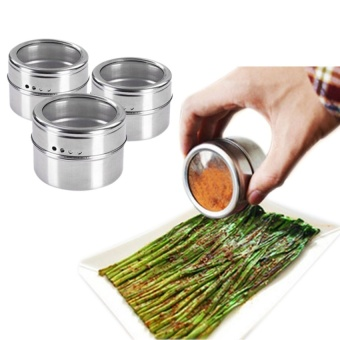 Philippines | Stainless Steel Seasoning Container Condiment Pot Salt SugarPepperStorage Organizer for Roasting/ Sauting/Baking/Grilling -Silver - intl eShop ...