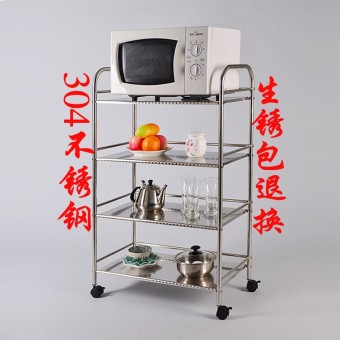 Stainless steel shelving rack pot rack trolley kitchen shelf