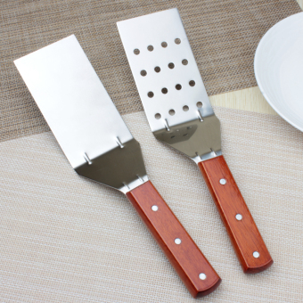 Stainless steel wood to shuijian Bao spatula