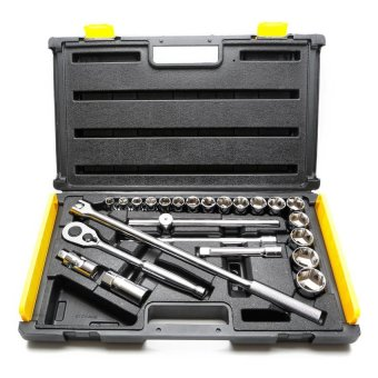 Stanley 25-piece 1/2 Drive 6 Pt Socket Wrench Set