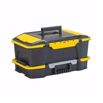 Stanley STST19900 Click & Connect 2 in 1 Box Organizer(Black/Yellow)