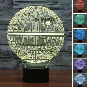 STAR EVER 3D Star-Wars LED Night 7 Color Change Touch Switch TableDesk Lamp Light - intl Price Philippines