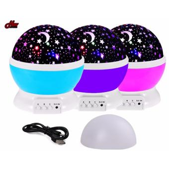 Star Projection Night Lamp (Pink) - 2