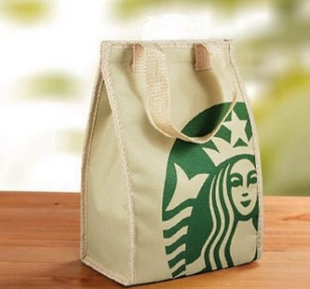 Starbucks large capacity portable Oxford cloth lunch bag package -intl