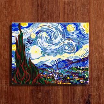 Starry night diy do it yourself oil painting by for Do it yourself mural