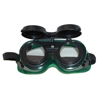 Steampunk Welding Goggles Oxy Cutting Welders Safety GogglesGlasses Flip Up Clear Lenses - intl