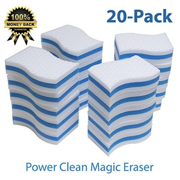 STK 20 Pack Extra Thick Power Clean Magic Eraser - Eraser Sponge For All Surfaces -