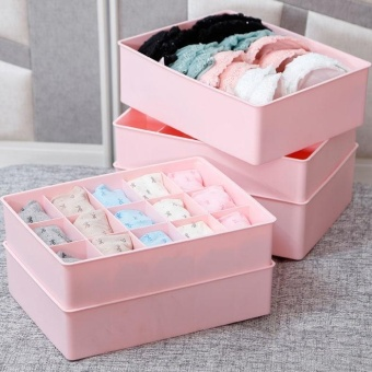 Storage Bra Box Plastic Cases Necktie Socks Underwear Clothing Organizer Container - intl