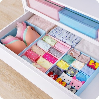 Storage Bra Box Plastic Cases Necktie Socks Underwear ClothingOrganizer Container - intl