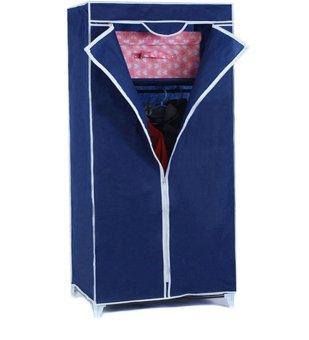 Storage Wardrobe and Clothes Organizer (Blue)