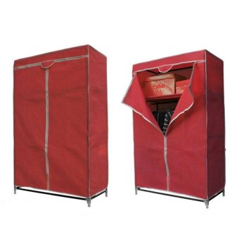Storage Wardrobe and Clothes Organizer (Red/Maroon) - picture 2
