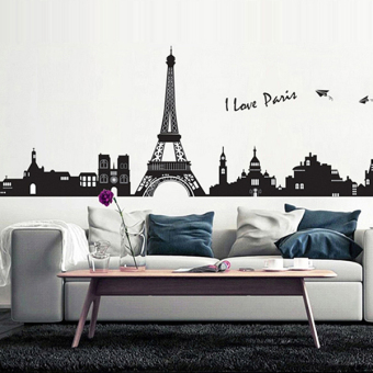 Street European tower wall adhesive paper sticker