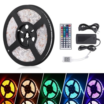 StripSun LED Strip Lights SMD 5050 Waterproof 16.4ft 5M 300leds RGB Color LED 5A - intl