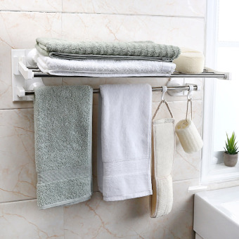 Strong bathroom Stainless Steel Hanging towel rack suction cup towel rack