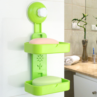 Strong suction cup bathroom punched soap holder soap dish soap box