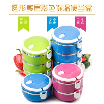 Student multi-seperated lunch boxes insulated container