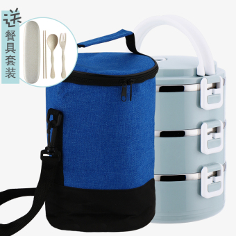 Students with lid multi-layer stainless steel cooler container