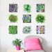 Style cartoon green wall decorations succulent plant wall adhesive paper sticker