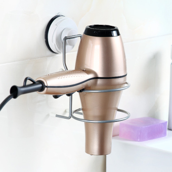 Suction wall hair dryer rack blow dryer rack