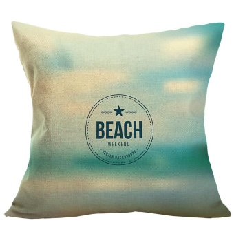 Summer Beach Sofa Bed Home Decoration Pillow Case Cushion Cover -intl
