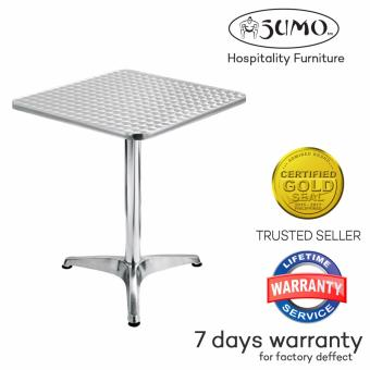 Sumo AT-60S Stainless Steel Top Aluminum Square Pantry Table(Silver)