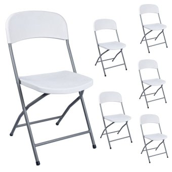 Sumo fdbc 777 folding furniture chair set of 6 white for Furniture 777