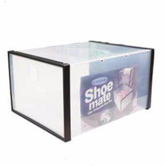 Sunnyware Shoe Mate Clear Collapsible Shoe Box - Large