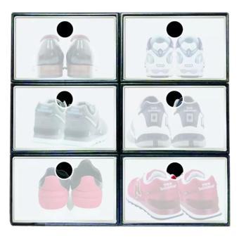 Sunnyware Shoe Mate Clear Collapsible Shoe Box - Medium - 2