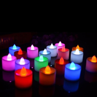 Sunshop Suprise Props Gifts Romantic Candle Shape Fliker LED Light for Wedding /Party / Holiday Decoration - intl