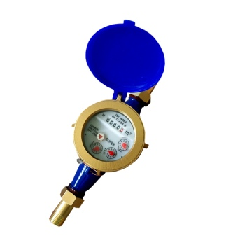 "Super Heavy Duty Metal Brass 15mm 1/2"" Household Multi-Jet WaterMeter (Blue) Price Philippines"