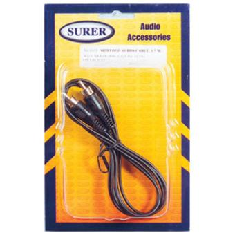 Surer 1603 Shielded Audio cable, 1.5M With molded RCA phone plug oneach end Price Philippines