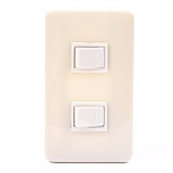 SURER NO.1374 2-Three-Way Switch with Plate with FREE Utility Box